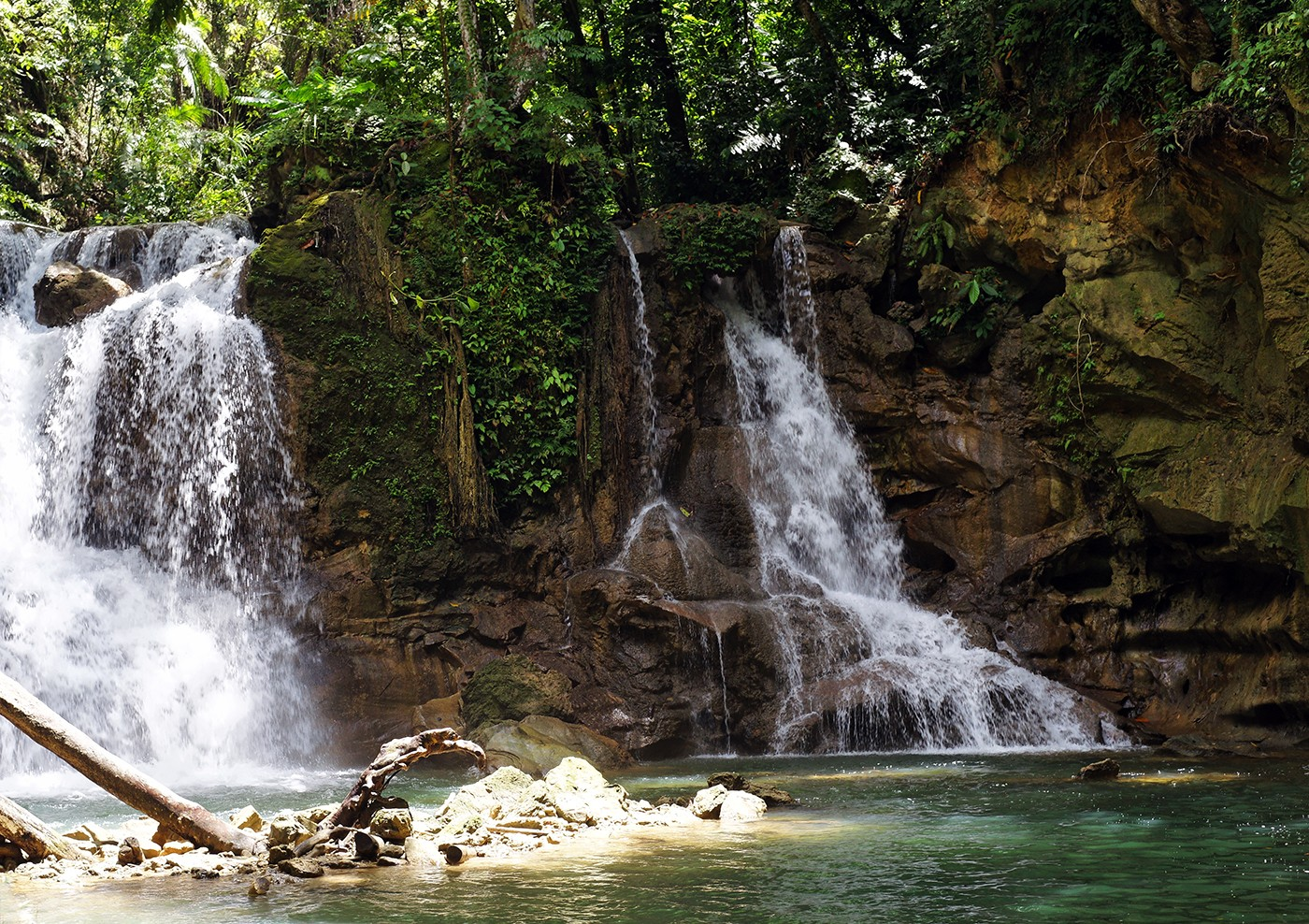 Mag-Aso Falls on Bohol island, Philippines.