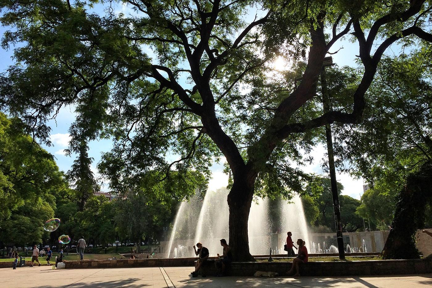 Plaza Independencia Mendoza, Argentina